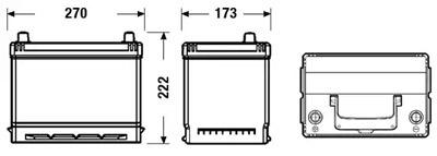 Аккумулятор Deta DB705 POWER 70 А/ч