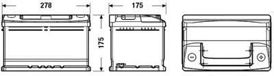 Аккумулятор Deta STANDARD DC652 65 А/ч