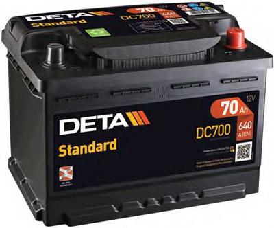 Аккумулятор Deta STANDARD DC700 70 А/ч