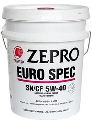 Масло моторное Idemitsu Zepro Euro Spec SN/CF 5W-40 20л