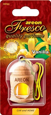 Ароматизатор салона Areon Fresco жидкий дер. бутылочка (ваниль)