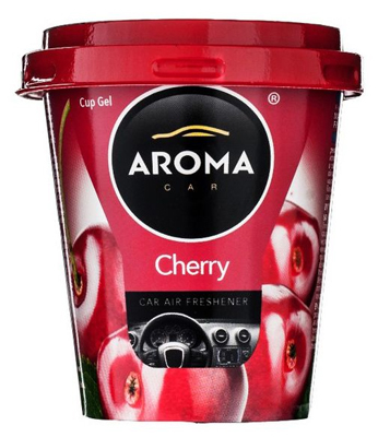 Ароматизатор салона гелевый Aroma Car Cup (вишня) 130гр