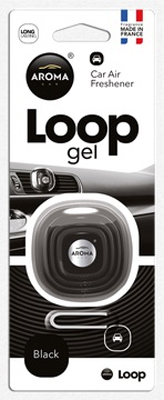 Ароматизатор салона гелевый Aroma Car Loop Gel Black