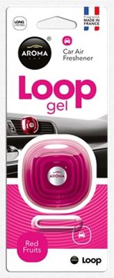 Ароматизатор салона гелевый Aroma Car Loop (красные фрукты)