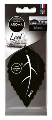 Ароматизатор салона бумажный Aroma Car Leaf Black