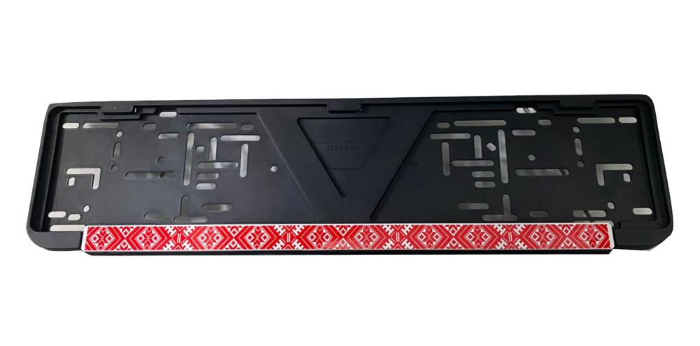 Рамка для номерного знака AutoOstrov.by с орнаментом