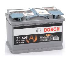 Аккумулятор Bosch S5 AGM A08 70 А/ч
