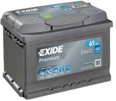 Аккумулятор Exide Premium EA612 61 А/ч