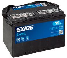 Аккумулятор Exide Excell EB758 75 а/ч