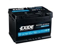 Аккумулятор Exide Micro-Hybrid AGM EK700 70 а/ч
