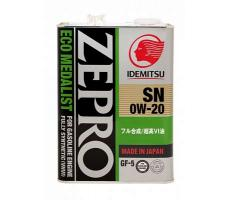 Масло моторное Idemitsu Zepro Eco Medalist 0W-20 4л