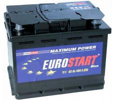 Аккумулятор Eurostart Blue (R+) 60 А/ч